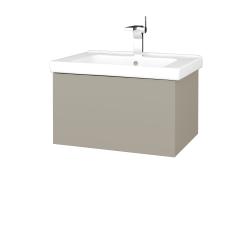 Dřevojas - Koupelnová skříň VARIANTE SZZ 65 (umyvadlo Harmonia) - M05 Béžová mat / M05 Béžová mat (190927)