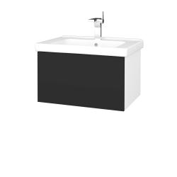 Dřevojas - Koupelnová skříň VARIANTE SZZ 65 (umyvadlo Harmonia) - N01 Bílá lesk / N03 Graphite (191115)