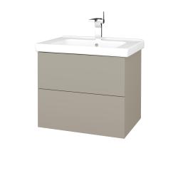 Dřevojas - Koupelnová skříň VARIANTE SZZ2 65 (umyvadlo Harmonia) - M05 Béžová mat / M05 Béžová mat (191375)