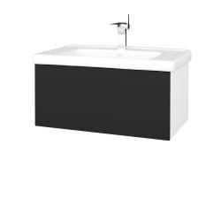 Dřevojas - Koupelnová skříň VARIANTE SZZ 80 (umyvadlo Harmonia) - N01 Bílá lesk / L03 Antracit vysoký lesk (191986)