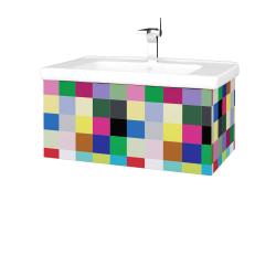 Dřevojas - Koupelnová skříň VARIANTE SZZ 80 (umyvadlo Harmonia) - IND Individual / IND Individual (191788)