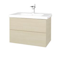 Dřevojas - Koupelnová skříň VARIANTE SZZ2 80 (umyvadlo Harmonia) - D02 Bříza / D02 Bříza (192112)