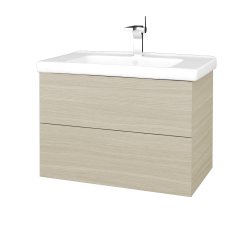 Dřevojas - Koupelnová skříň VARIANTE SZZ2 80 (umyvadlo Harmonia) - D04 Dub / D04 Dub (192136)