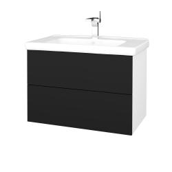 Dřevojas - Koupelnová skříň VARIANTE SZZ2 80 (umyvadlo Harmonia) - N01 Bílá lesk / N08 Cosmo (192501)