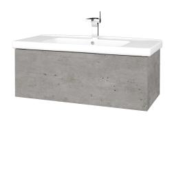 Dřevojas - Koupelnová skříň VARIANTE SZZ 100 (umyvadlo Harmonia) - D01 Beton / D01 Beton (192556)