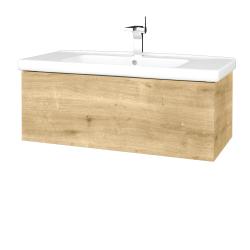 Dřevojas - Koupelnová skříň VARIANTE SZZ 100 (umyvadlo Harmonia) - D09 Arlington / D09 Arlington (192617)