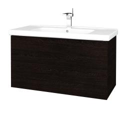 Dřevojas - Koupelnová skříň VARIANTE SZZ2 100 (umyvadlo Harmonia) - D08 Wenge / D08 Wenge (193065)