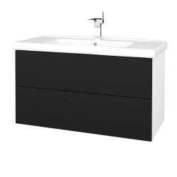 Dřevojas - Koupelnová skříň VARIANTE SZZ2 100 (umyvadlo Harmonia) - N01 Bílá lesk / N08 Cosmo (193409)