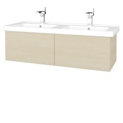 Dřevojas - Koupelnová skříň VARIANTE SZZ2 125 (umyvadlo Harmonia) - D02 Bříza / D02 Bříza (193461)