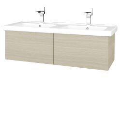 Dřevojas - Koupelnová skříň VARIANTE SZZ2 125 (umyvadlo Harmonia) - D04 Dub / D04 Dub (193485)