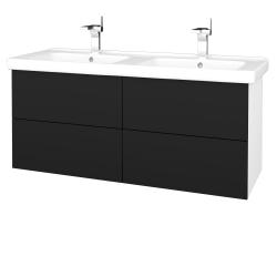 Dřevojas - Koupelnová skříň VARIANTE SZZ4 125 (umyvadlo Harmonia) - N01 Bílá lesk / N08 Cosmo (194307)