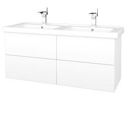 Dřevojas - Koupelnová skříň VARIANTE SZZ4 125 (umyvadlo Harmonia) - N01 Bílá lesk / M01 Bílá mat (194253)