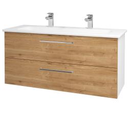 Dřevojas - Koupelnová skříň GIO SZZ2 120 - N01 Bílá lesk / Úchytka T04 / D09 Arlington (129965EU)