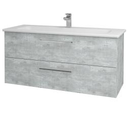 Dřevojas - Koupelnová skříň GIO SZZ2 120 - D01 Beton / Úchytka T04 / D01 Beton (130039E)
