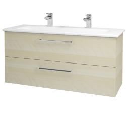 Dřevojas - Koupelnová skříň GIO SZZ2 120 - D02 Bříza / Úchytka T04 / D02 Bříza (130046EU)