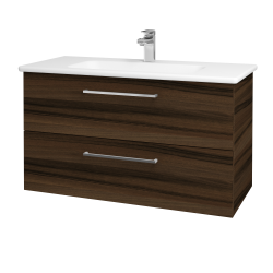 Dřevojas - Koupelnová skříň GIO SZZ2 100 - D06 Ořech / Úchytka T04 / D06 Ořech (130671E)