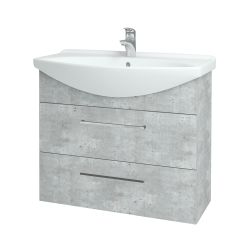 Dřevojas - Koupelnová skříň TAKE IT SZZ2 85 - D01 Beton / Úchytka T04 / D01 Beton (134037E)