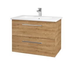Dřevojas - Koupelnová skříň GIO SZZ2 80 - D09 Arlington / Úchytka T04 / D09 Arlington (146405E)