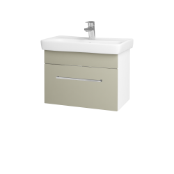 Dřevojas - Koupelnová skříň SOLO SZZ 60 - N01 Bílá lesk / Úchytka T04 / L04 Béžová vysoký lesk (150358E)