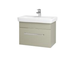 Dřevojas - Koupelnová skříň SOLO SZZ 60 - L04 Béžová vysoký lesk / Úchytka T04 / L04 Béžová vysoký lesk (150372E)