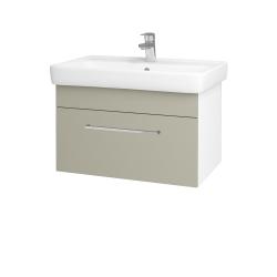 Dřevojas - Koupelnová skříň Q UNO SZZ 70 - N01 Bílá lesk / Úchytka T04 / L04 Béžová vysoký lesk (150778E)