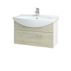 Dřevojas - Koupelnová skříň TAKE IT SZZ 75 - N01 Bílá lesk / Úchytka T04 / D05 Oregon (152505E)
