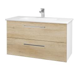 Dřevojas - Koupelnová skříň GIO SZZ2 100 - N01 Bílá lesk / Úchytka T04 / D15 Nebraska (173753E)