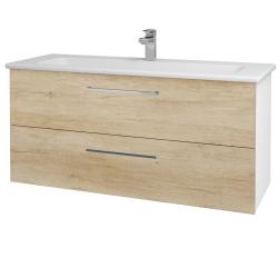 Dřevojas - Koupelnová skříň GIO SZZ2 120 - N01 Bílá lesk / Úchytka T04 / D15 Nebraska (173777E)