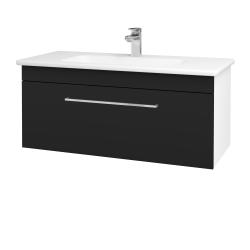 Dřevojas - Koupelnová skříň ASTON SZZ 100 - N01 Bílá lesk / Úchytka T04 / N08 Cosmo (200015E)