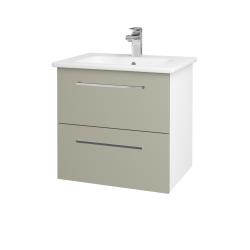Dřevojas - Koupelnová skříň GIO SZZ2 60 - N01 Bílá lesk / Úchytka T04 / M05 Béžová mat (202057E)