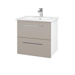 Dřevojas - Koupelnová skříň GIO SZZ2 60 - N01 Bílá lesk / Úchytka T04 / N07 Stone (202088E)