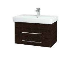 Dřevojas - Koupelnová skříň Q ZÁSUVKOVÉ SZZ2 70 - D08 Wenge / Úchytka T04 / D08 Wenge (20227E)