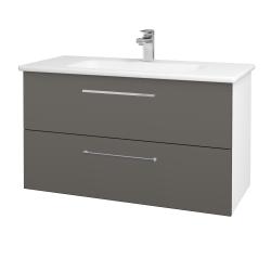 Dřevojas - Koupelnová skříň GIO SZZ2 100 - N01 Bílá lesk / Úchytka T04 / N06 Lava (202842E)