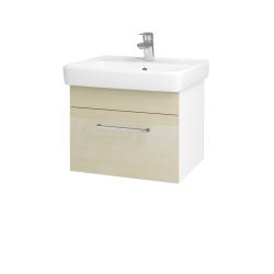 Dřevojas - Koupelnová skříň Q UNO SZZ 55 - N01 Bílá lesk / Úchytka T04 / D02 Bříza (20289E)