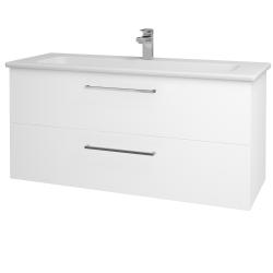 Dřevojas - Koupelnová skříň GIO SZZ2 120 - N01 Bílá lesk / Úchytka T04 / M01 Bílá mat (202972E)
