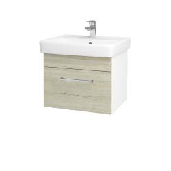 Dřevojas - Koupelnová skříň Q UNO SZZ 55 - N01 Bílá lesk / Úchytka T04 / D05 Oregon (20302E)