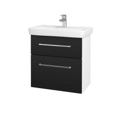 Dřevojas - Koupelnová skříň GO SZZ2 60 - N01 Bílá lesk / Úchytka T04 / N08 Cosmo (204952E)