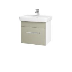 Dřevojas - Koupelnová skříň SOLO SZZ 50 - N01 Bílá lesk / Úchytka T04 / M05 Béžová mat (205355E)
