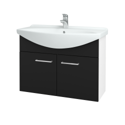 Dřevojas - Koupelnová skříň TAKE IT SZD2 85 - N01 Bílá lesk / Úchytka T04 / N08 Cosmo (206277E)