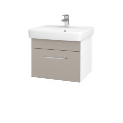 Dřevojas - Koupelnová skříň Q UNO SZZ 55 - N01 Bílá lesk / Úchytka T04 / N07 Stone (208387E)