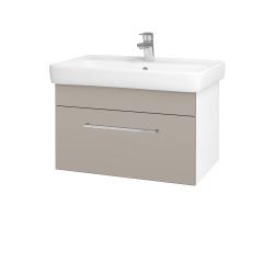 Dřevojas - Koupelnová skříň Q UNO SZZ 70 - N01 Bílá lesk / Úchytka T04 / N07 Stone (208783E)