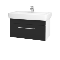 Dřevojas - Koupelnová skříň Q UNO SZZ 80 - N01 Bílá lesk / Úchytka T04 / N03 Graphite (208967E)