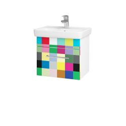 Dřevojas - Koupelnová skříň SOLO SZZ 50 - N01 Bílá lesk / Úchytka T04 / IND Individual (20944E)