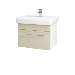 Dřevojas - Koupelnová skříň Q UNO SZZ 60 - N01 Bílá lesk / Úchytka T04 / D02 Bříza (20982E)