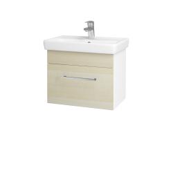 Dřevojas - Koupelnová skříň SOLO SZZ 55 - N01 Bílá lesk / Úchytka T04 / D02 Bříza (21156E)