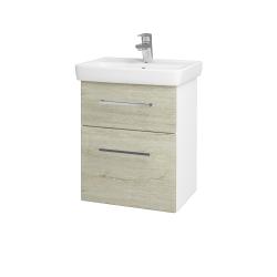 Dřevojas - Koupelnová skříň GO SZZ2 50 - N01 Bílá lesk / Úchytka T04 / D05 Oregon (27974E)