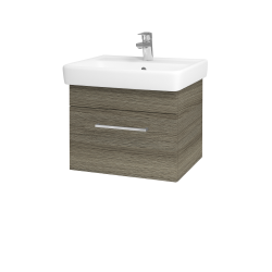 Dřevojas - Koupelnová skříň Q UNO SZZ 55 - D03 Cafe / Úchytka T04 / D03 Cafe (28216E)