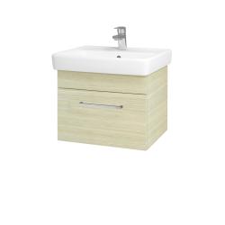 Dřevojas - Koupelnová skříň Q UNO SZZ 55 - D04 Dub / Úchytka T04 / D04 Dub (28223E)