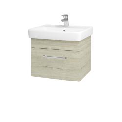 Dřevojas - Koupelnová skříň Q UNO SZZ 55 - D05 Oregon / Úchytka T04 / D05 Oregon (28230E)
