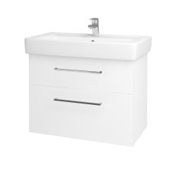 Dřevojas - Koupelnová skříň Q MAX SZZ2 80 - N01 Bílá lesk / Úchytka T04 / L01 Bílá vysoký lesk (60193E)